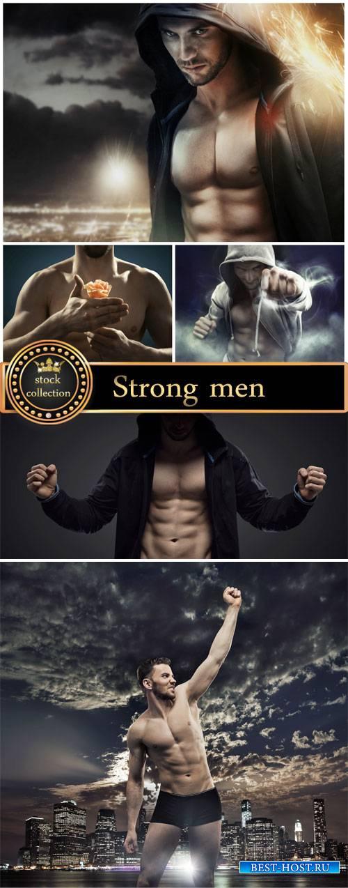 Strong men, creative - stock photos