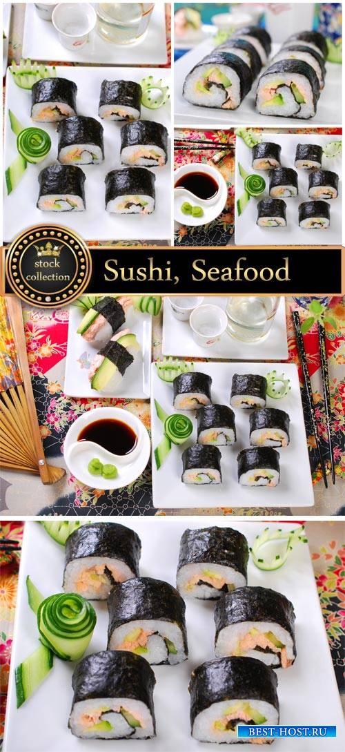 Sushi, seafood #4- stock photos