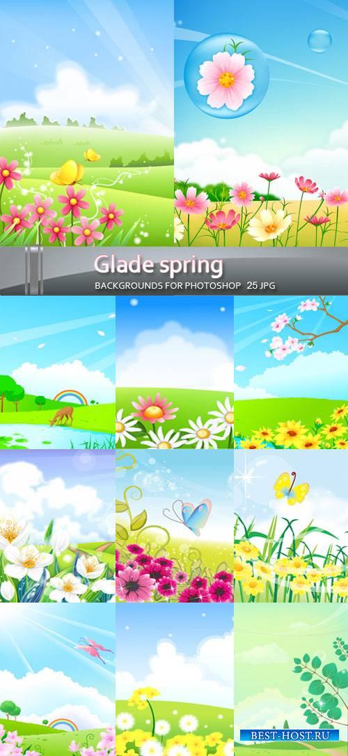 Весенние фоны - Цветущие поляны