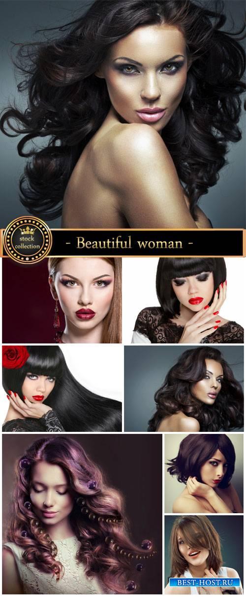 Beautiful fashionable woman - Stock Photo