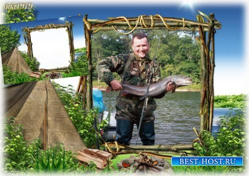 Рамка для photoshop – Я на рыбалку