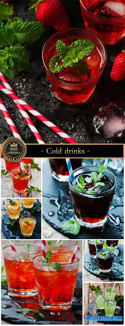 Cold drinks, fruit and berry - stock photos