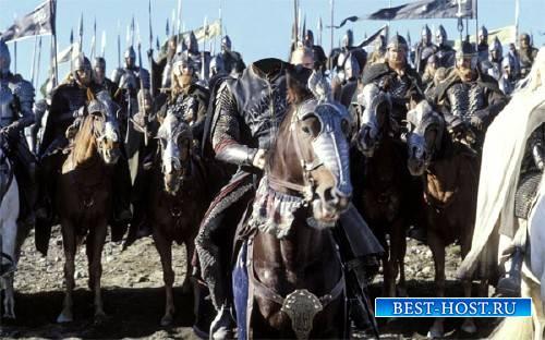 Шаблон для фотошопа - Воин на коне