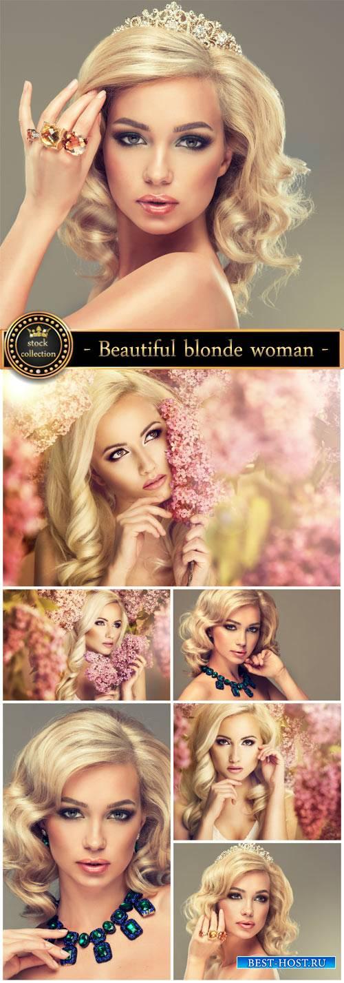 Beautiful blonde woman - Stock Photo
