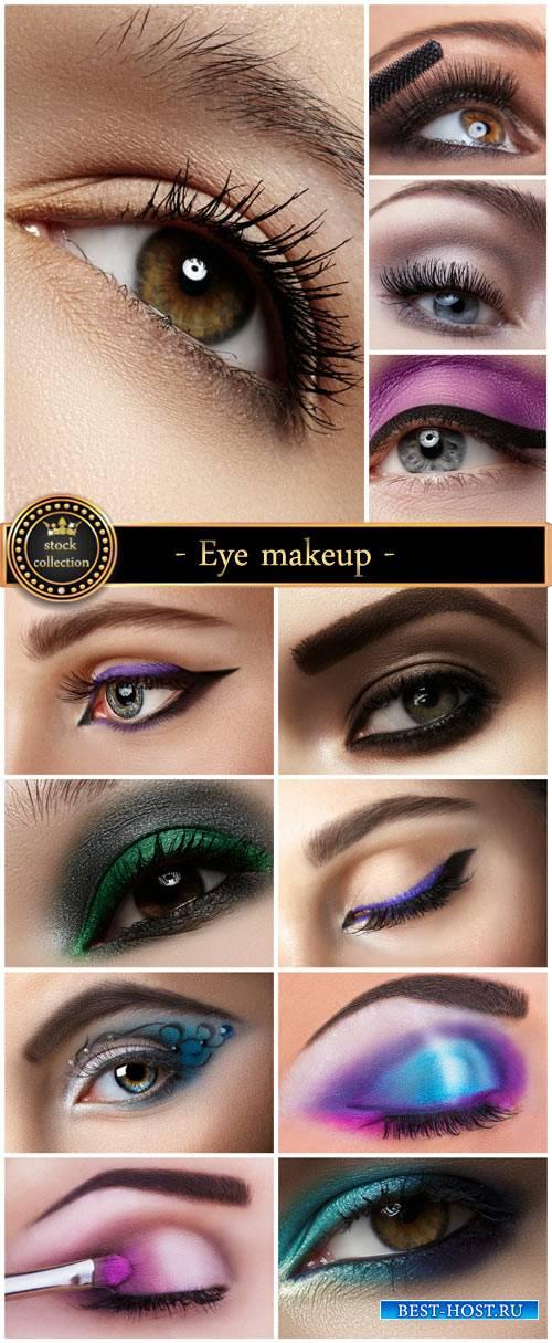 Eye makeup, women's eyes - stock photos