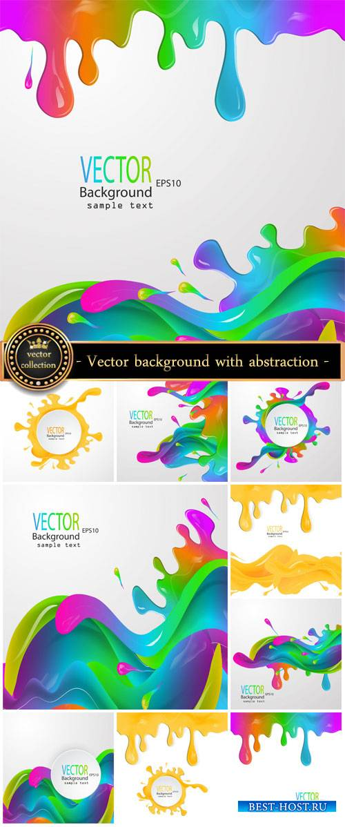 Vector background with abstraction, colorful splashes of paint