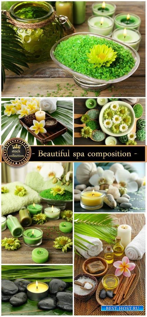 Beautiful spa composition - Stock Photo