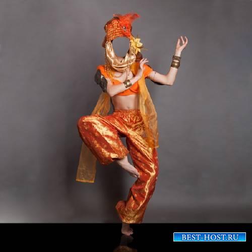 Шаблон psd - В индийском костюме