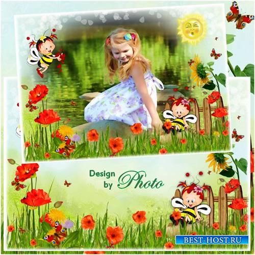 Детская фоторамка - Забавные пчёлки