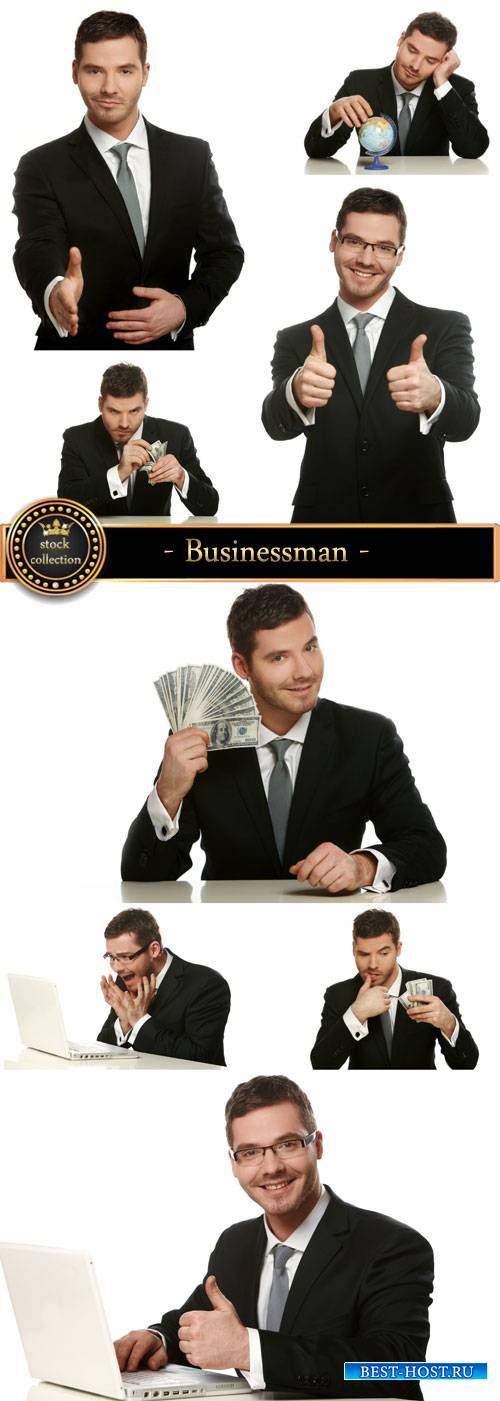 Businessman in different situations - stock photos