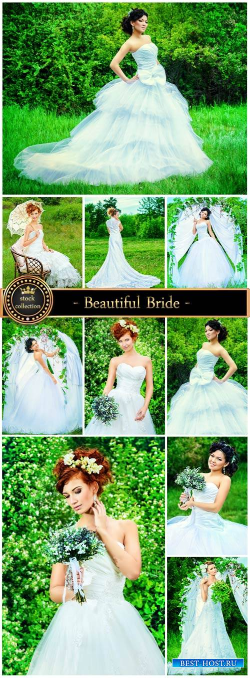 Beautiful Bride - wedding Stock Photo