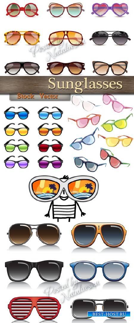 Разноцветные Солнечные очки в Векторе