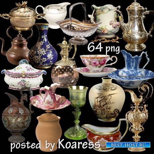 Вазы, кувшины, чашки, кубки, чайники и другая старинная и винтажная посуда
