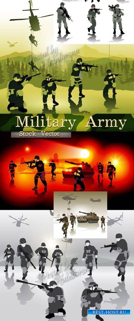Векторная подборка -  Военная Армия