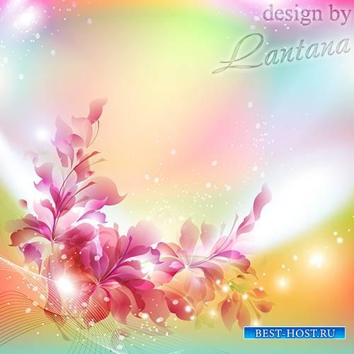 PSD исходник - Воздушные цветы, прозрачны стебельки