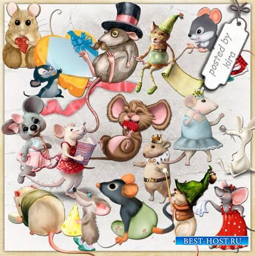 Картинки в png - Очаровательные мышки, мышата и крысята