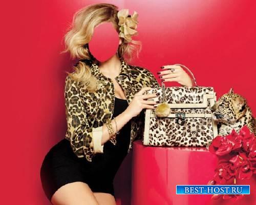Photoshop шаблон - В леопардовом стиле