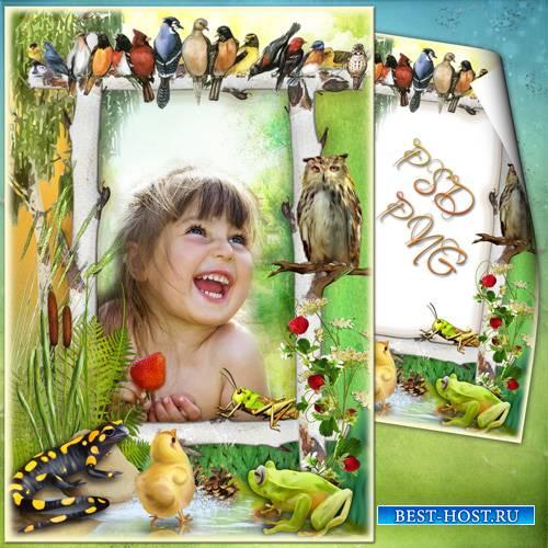 Детская фоторамка - Маленький отважный рассказчик
