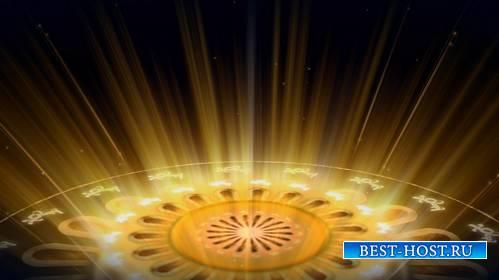 Футаж - Золотой, магический круг