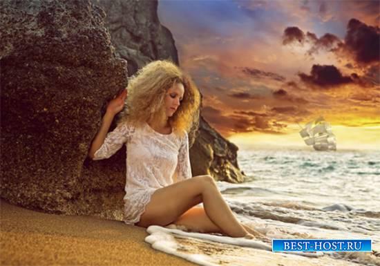 Шаблон  женский – Плещут волны