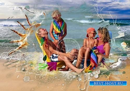 Рамочка для фотошоп - Райский отдых на пляже