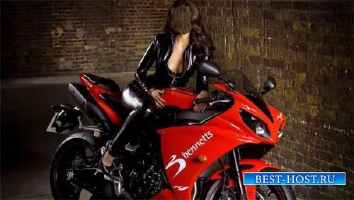 Шаблон для фотошопа - На мотоцикле