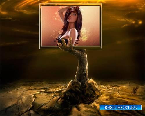 Рамка для фотошоп - Мистическая рука
