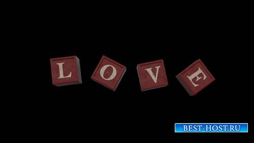 Футаж с надписью LOVE
