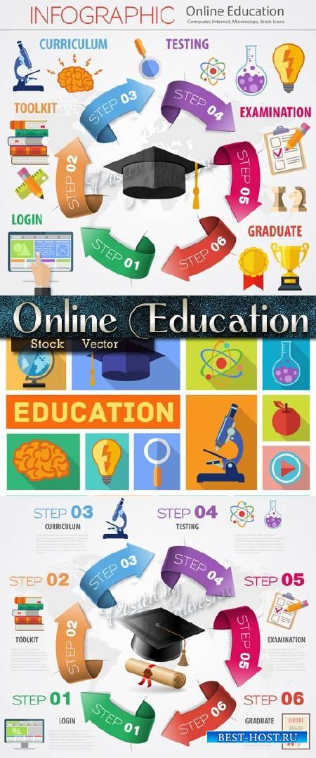 Инфографика в Векторе - Интернет Образование