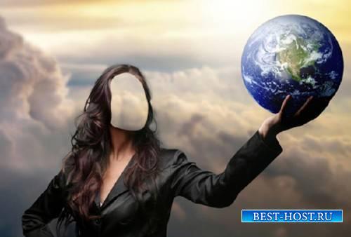 Шаблон женский - Земля в руках у женщин