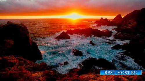 Красивый морской футаж - Морской закат