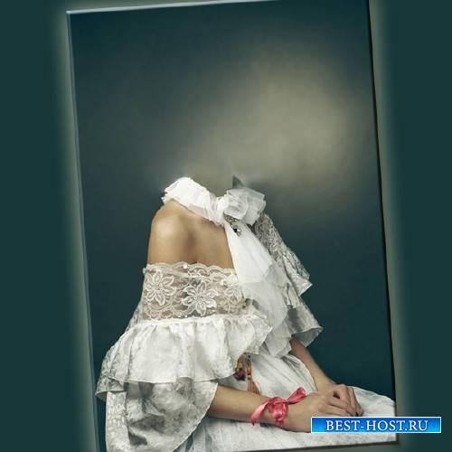Шаблон для девушек - В женское белом платье