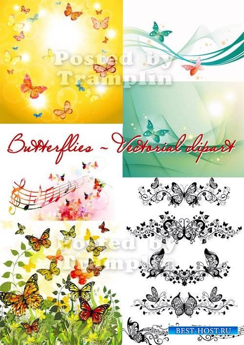 Бабочки – Летний векторный клипарт