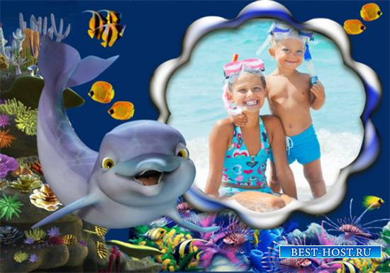 Рамка детская – Дельфинёнок