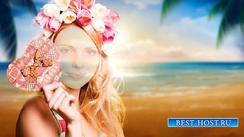 Photoshop шаблон - На пляже