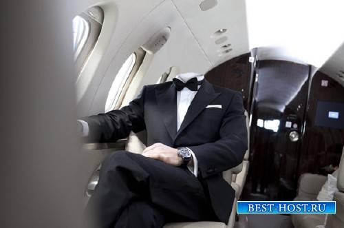 Шаблон для Photoshop - Богатый мужчина