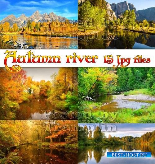 Осенняя река и лес - Фоны высокого разрешения
