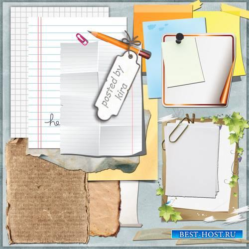 Клипарт в формате png - Бумага, стикеры, тетрадные листы