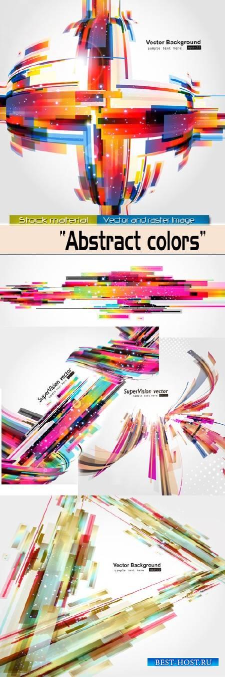 Фоны в Векторе - Цветные абстракции