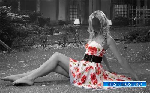 Шаблон женский - Креативное фото в платье