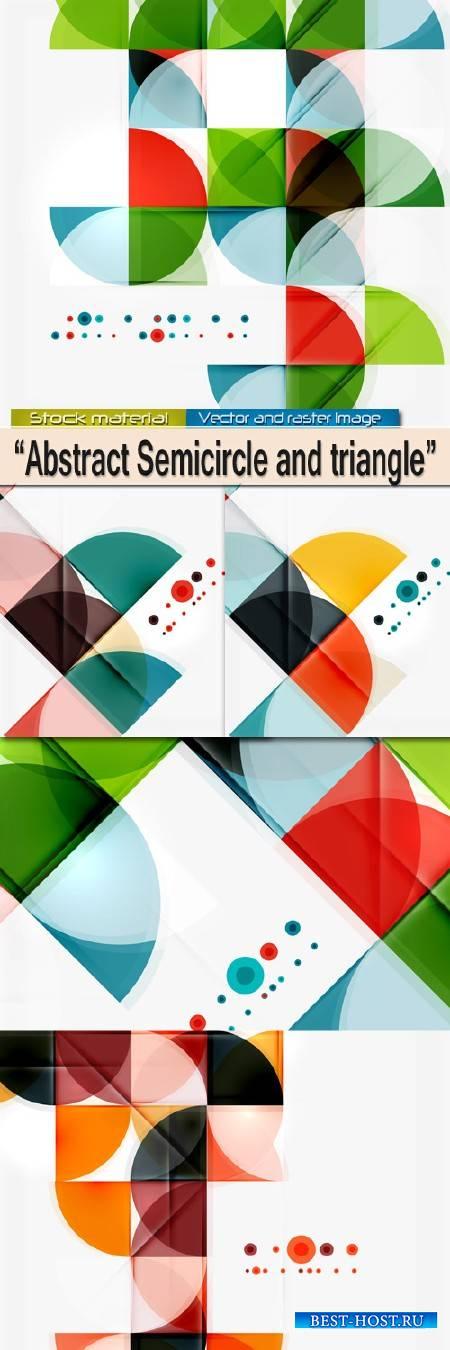 Полукруг и треугольник - Абстрактные фоны в Векторе