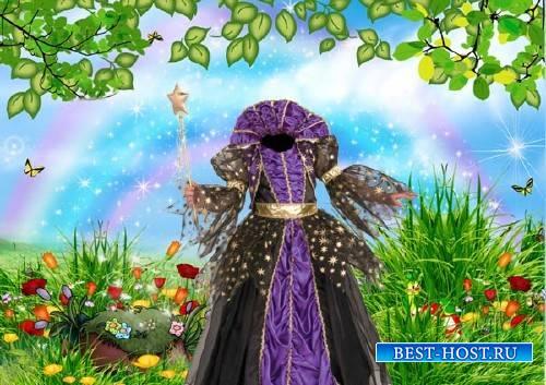 Шаблон детский - Платье маленькой феи