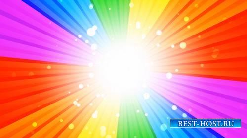 Футаж - Радуга и вспышка света / Rainbow Burst Loop
