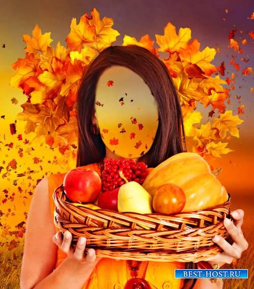 Шаблон для фотошопа  - Дары осени