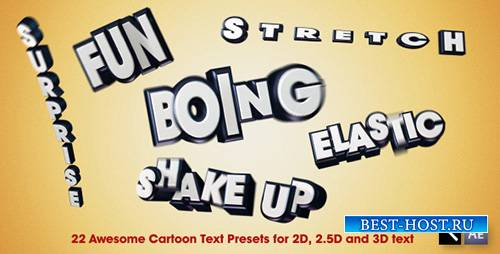 22 Awesome Cartoon Text Presets - After Effects Presets + AE (Videohive)