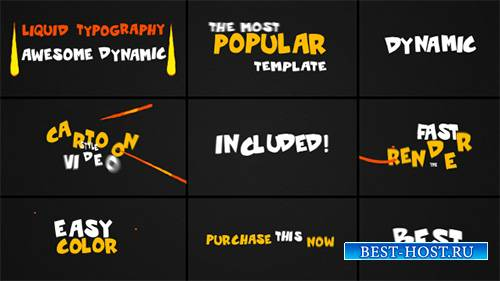 Dynamic Liquid Typography - Project for After Effects (Videohive)
