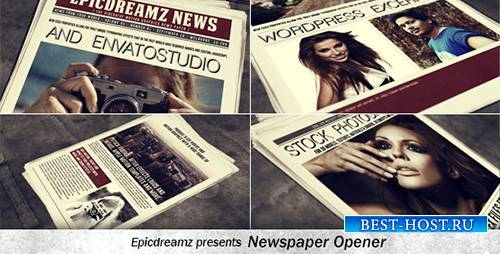 Newspaper Opener - Project for After Effects (Videohive)