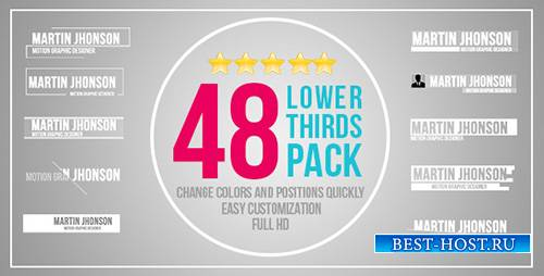 48 Lower Thirds Pack - Project for After Effects (Videohive)