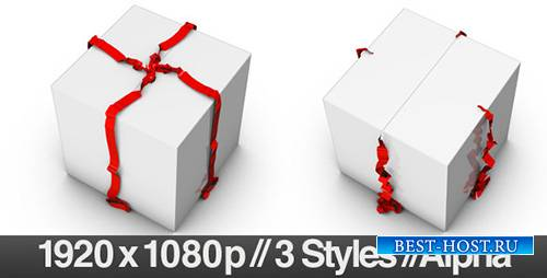 Opening a Wrapped Gift with Alpha Channel - Fold - Motion Graphics (Videohi ...