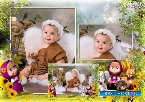 Рамка для фотошоп – Маша и ее друзья